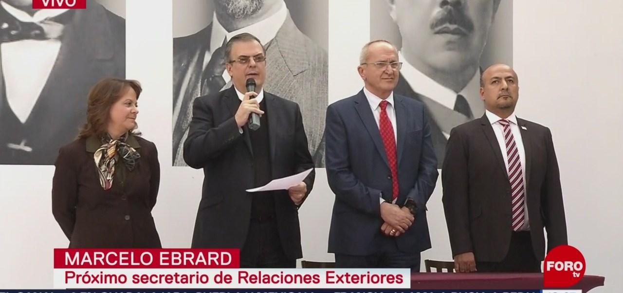 Ebrard anuncia propuestas para cargos en la Secretaría de Relaciones Exteriores