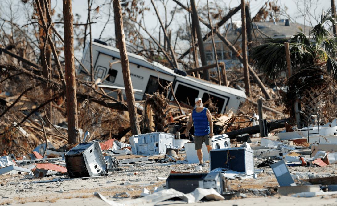 El huracán 'Michael' dejó daños en Florida. (AP)