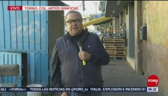Enrique Muñoz visita la colonia Artes Gráficas en busca de huaraches