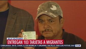 Entregan 103 tarjetas de identificación a migrantes en Tijuana