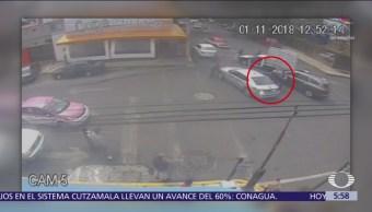 Escoltas agreden a chofer de camioneta de carga en Coyoacán