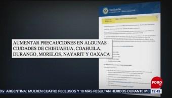 Estados Unidos actualiza las alertas para sus ciudadanos que viajen a México