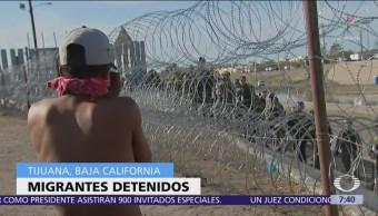 EU arresta a 42 migrantes por incidente en garita de Tijuana