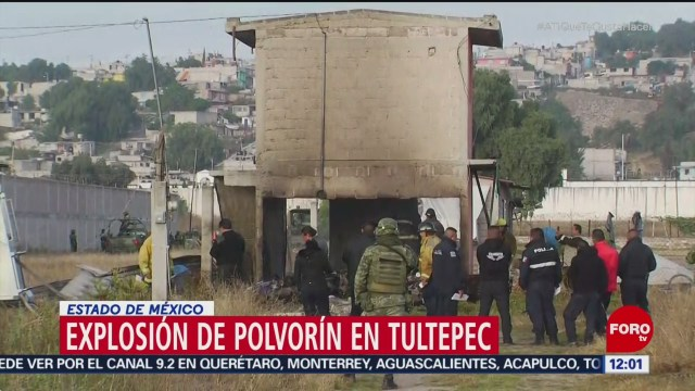 Explosión en Tultepec deja al menos dos heridos
