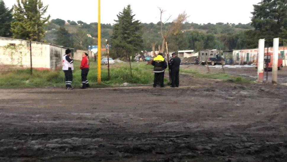 Reportan explosión de polvorín en el barrio La Saucera en Tultepec, Edomex