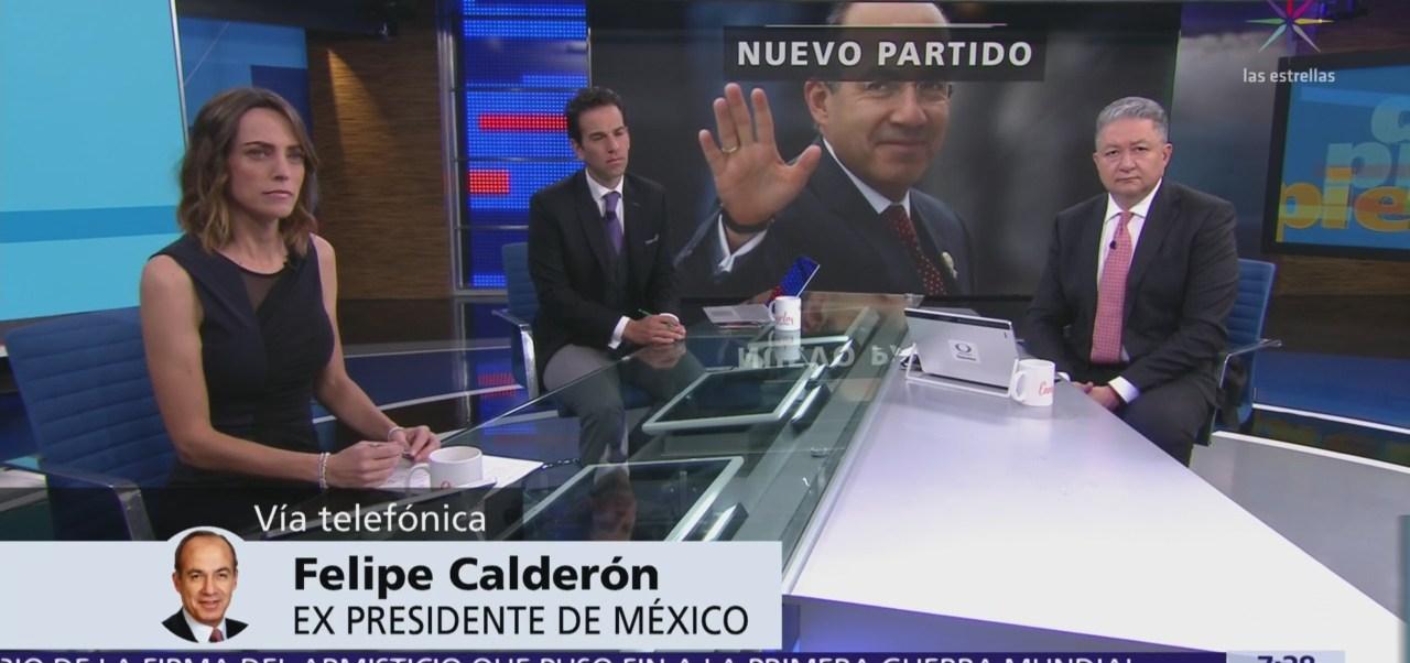 Felipe Calderón: Renuncie al PAN porque dejó de ser instrumento de participación ciudadana