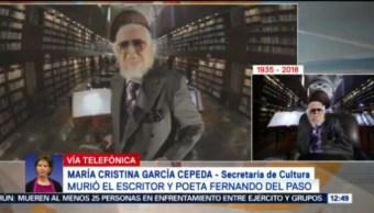 Fernando del Paso siempre fue una voz libre: Cristina García Cepeda