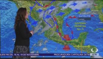 Frente frío número 10 provocará descenso de temperaturas en México