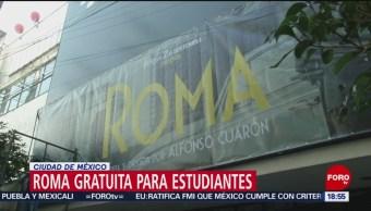 Función de Roma, gratuita para estudiantes