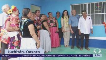 Fundación Televisa entrega casas a familias damnificadas en Unión Hidalgo, Oaxaca