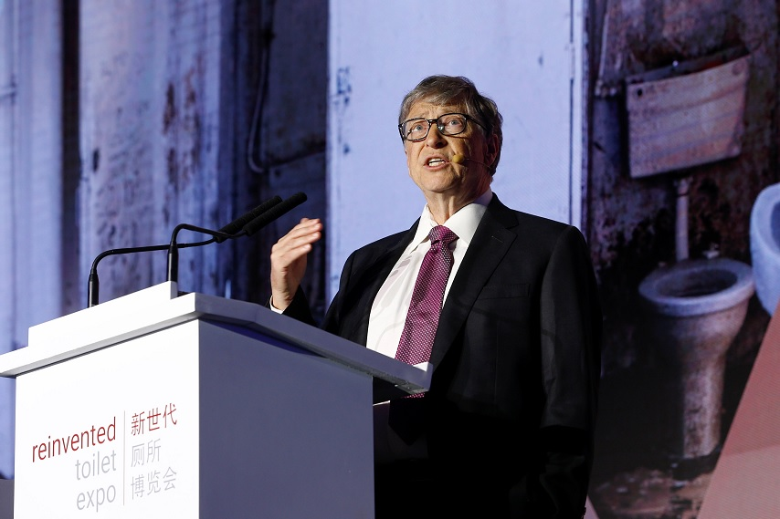Bill Gates presenta inodoro futurista en China