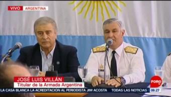 Hallan Al Submarino Ara San Juan De La Marina Argentina Titular De La Armada Argentina, José Luis Villán Hallan Al Submarino Submarino Ara San Juan Marina Argentina Argentina