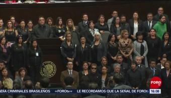 Homenajean a hija de Carmen Medel en Cámara de Diputados
