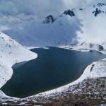 Imágenes del Nevado de Toluca cubierto de nieve