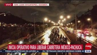 Inicia operativo de la Policía Federal en la México-Pachuca