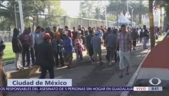 Instalan centros de acopio en CDMX para apoyar a migrantes centroamericanos