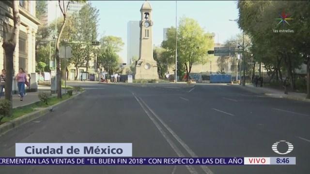 Instalan vallas en Bucareli, CDMX, por presencia de manifestantes