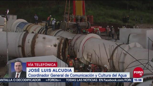 José Luis Alcudia habla del reinicio de operaciones del Cutzamala