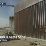 Refuerzan valla en Tijuana por caravana migrante
