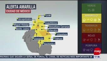 Lanzan alerta amarilla por bajas temperaturas para la CDMX