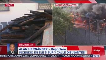 Controlan Incendio En Iztapalapa Bomberos Controlan El Fuego Establecimiento Commercial Eje 5 Sur Y La Calle Dibujantes Colonia Apatlaco, Alcaldía Iztapalapa