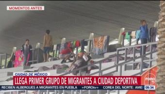 Llega Primer Grupo Migrantes Ciudad Deportiva Magdalena Mixhuca