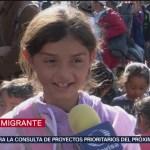 Los niños de la caravana migrante