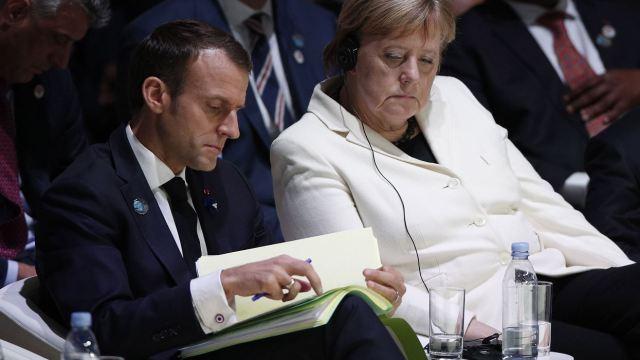 Macron, Merkel y Guterres abren el Foro de París