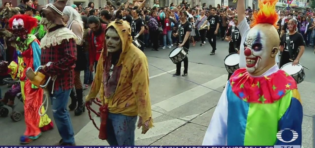 Marcha zombie invade la CDMX