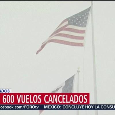 Más de 600 vuelos cancelados en Estados Unidos