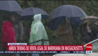 Massachusetts abre primeras dos tiendas legales de marihuana recreativa