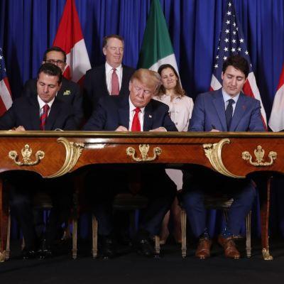 México, Estados Unidos y Canadá firman el T-MEC en la Cumbre del G20