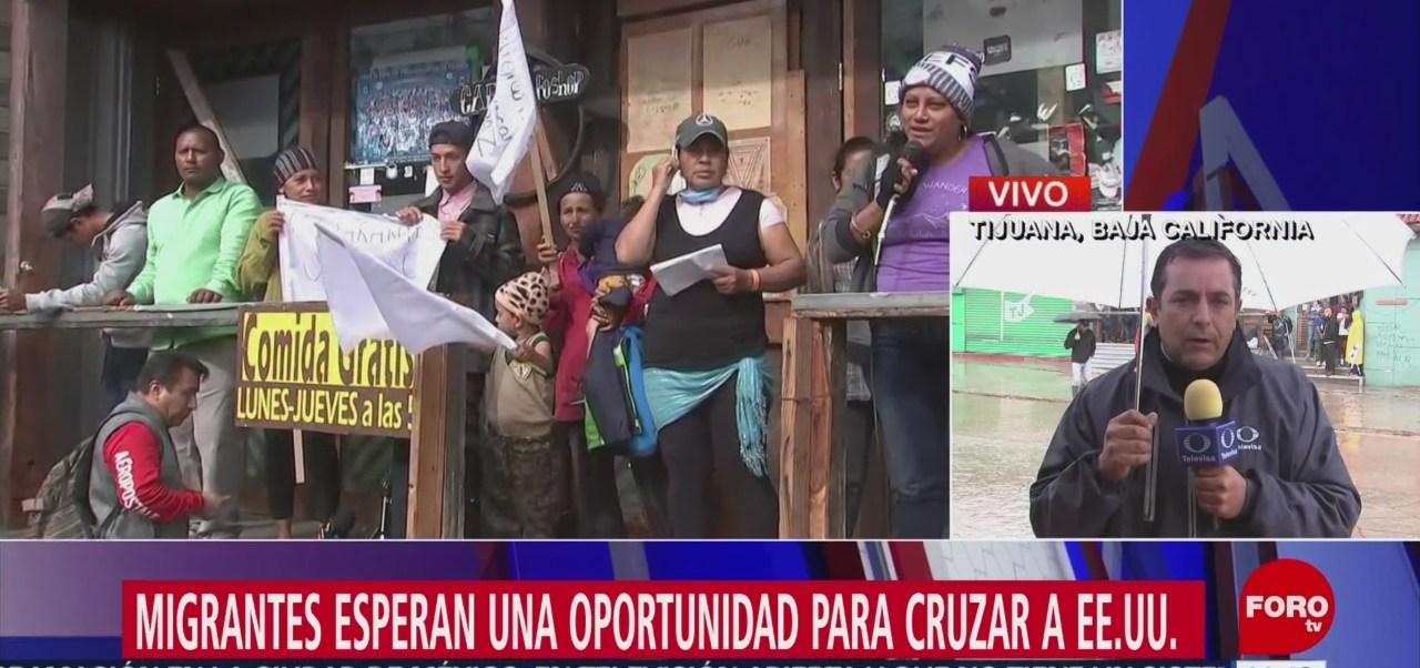 Miembros de caravana migrante anuncian huelga de hambre
