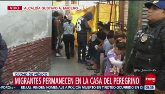 Miembros de la segunda caravana permanecen en la 'Casa del Peregrino'