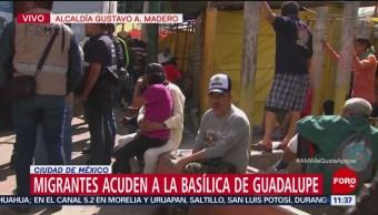 Migrantes acuden a la Basílica de Guadalupe, CDMX