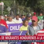 Migrantes hondureños están por llegar a oficinas de la ONU en Polanco