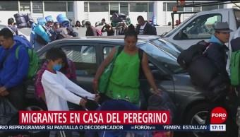 Migrantes llegan a Casa del Peregrino de la Basílica de Guadalupe