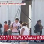 Caravana migrante se divide; unos avanzan, otros aguardan