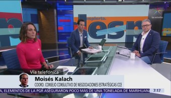 Moisés Kalach: T-MEC no enfrenta riesgos, aranceles al acero son 'pendiente'