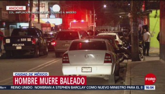 Muere un hombre baleado en la Ciudad de México