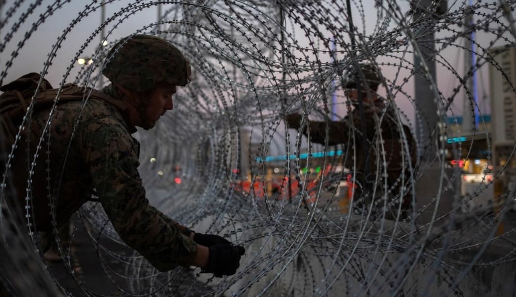 Refuerzan medidas de seguridad en muro fronterizo de México con EU