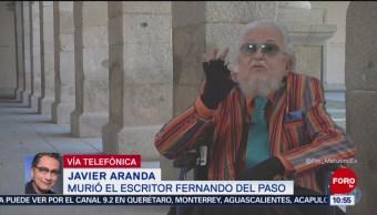 """Nicolás Alvarado recomienda leer """"Palinuro de México"""" de Fernando del Paso"""