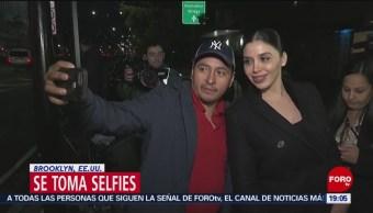 Emma Coronel Toma Selfie Calles Brooklyn