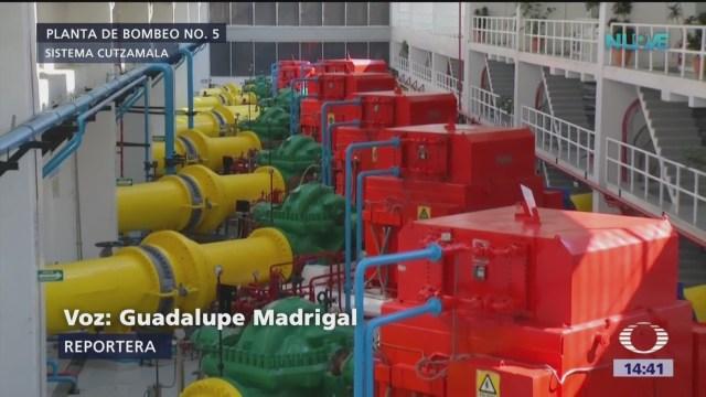 Operan las cuatro bombas del sistema Cutzamala