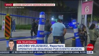 Operativo de seguridad por evento musical en CDMX