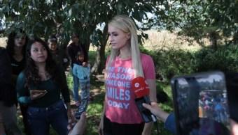 Paris Hilton visitó a la comunidad Mazahua