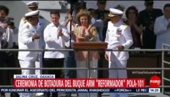 Peña Nieto Encabeza Ceremonia De Botadura De Patrulla Oceánica, Presidente Enrique Peña Nieto, Salina Cruz, Oaxaca