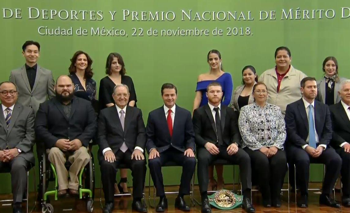 Peña Nieto entrega el Premio Nacional de Deportes 2018