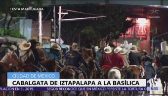 Peregrinos de Iztapalapa llegan a la Basílica de Guadalupe