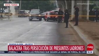 Persecución y balacera en Guadalajara, Jalisco